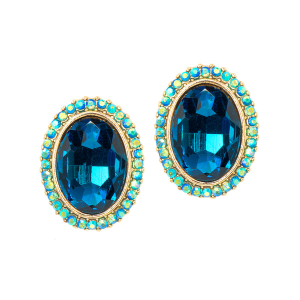 MIDNIGHT BLUE STATEMENT EARRINGS