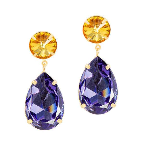 POWER DUO STATEMENT EARRINGS (YELLOW)