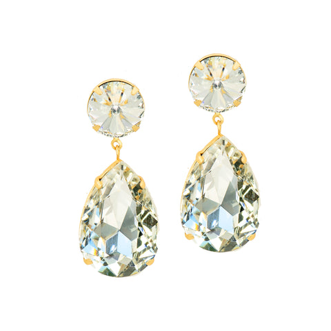 POWER DUO STATEMENT EARRINGS (CLEAR)