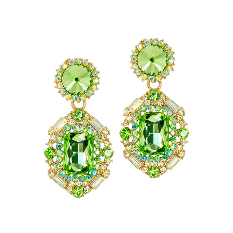 GARDEN GREEN STATEMENT EARRINGS
