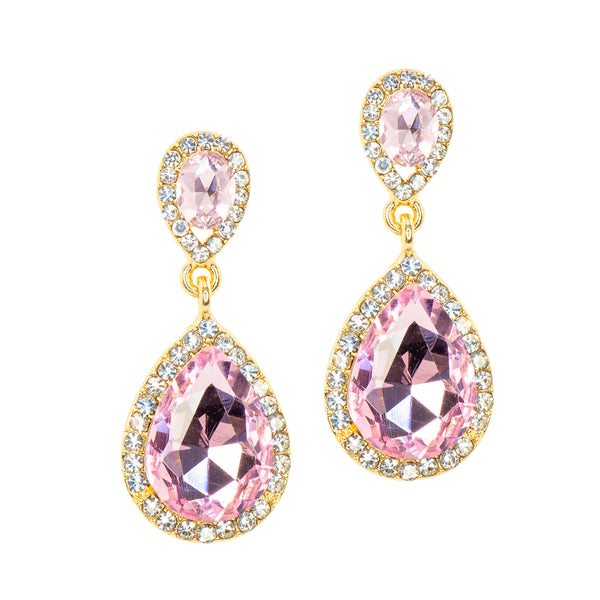PINK PARADISE STATEMENT EARRINGS