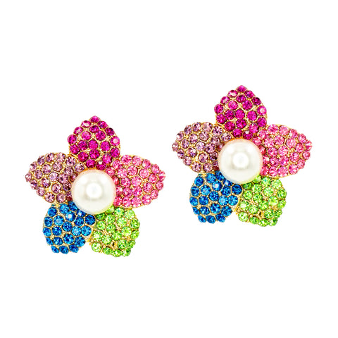 FLORAL GLAMOUR STATEMENT EARRINGS