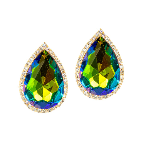 ICONIC GLAM STATEMENT EARRINGS (VITRAIL)