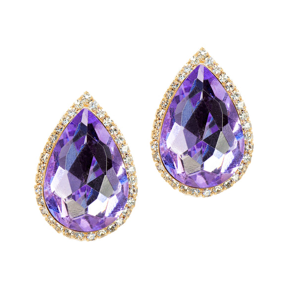 ICONIC GLAM STATEMENT EARRINGS (LAVENDER)