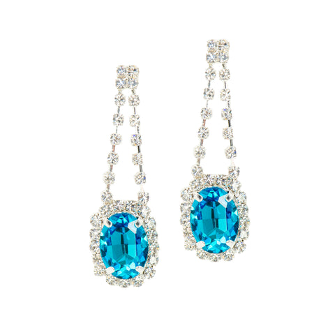 POP OF GLAM STATEMENT EARRINGS (TEAL)