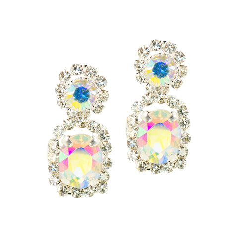 DEMURE GLAM STATEMENT EARRINGS (AURORA BOREALIS)