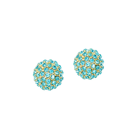 ROBIN EGG BLUE STATEMENT STUDS