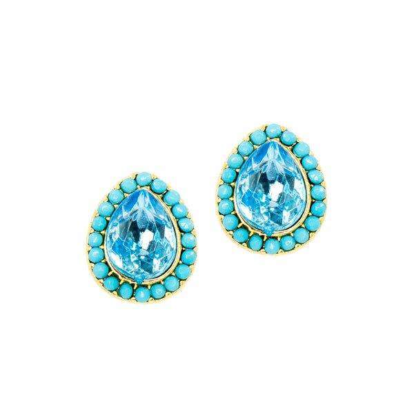 COTTAGE BLUE STATEMENT EARRINGS