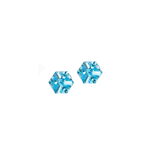 BABY BLUE STATEMENT EARRINGS