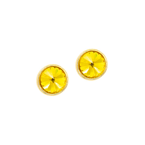 LEMON STUD STATEMENT EARRINGS