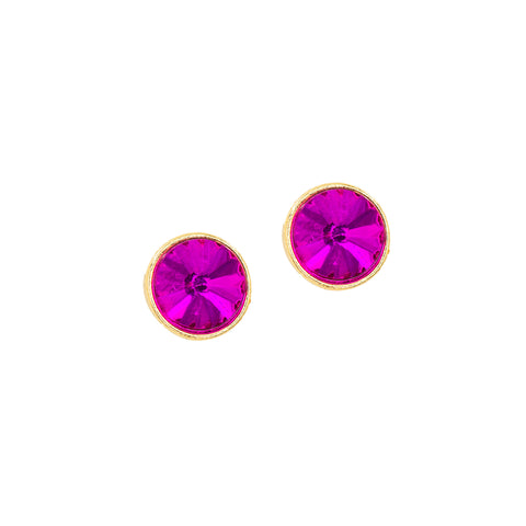 FUCHSIA STUD STATEMENT EARRINGS