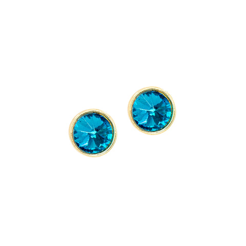 SEA BLUE STATEMENT EARRINGS