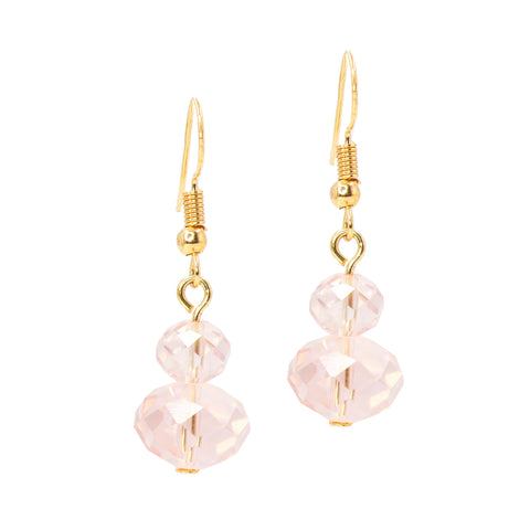 SOFT ROSE STATEMENT EARRINGS