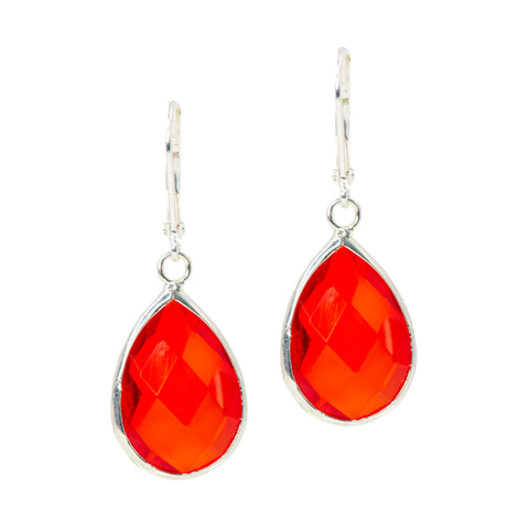 ORANGE ICE STATEMENT EARRINGS