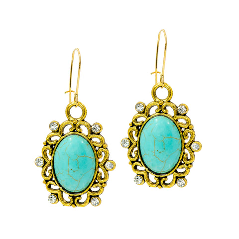 SUMMER TURQUOISE STATEMENT EARRINGS