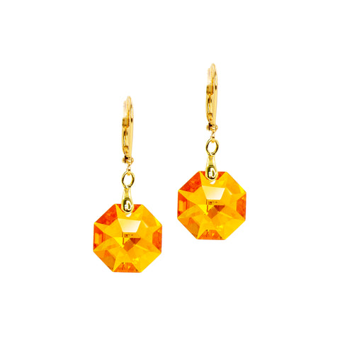 SAUBLE SUNSET STATEMENT EARRINGS