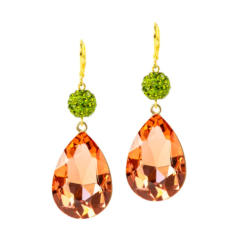 SOUTHERN PEACH STATEMENT EARRINGS