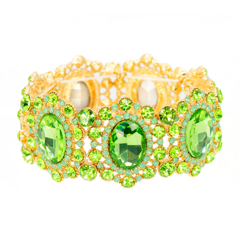 GARDEN GREEN STATEMENT BRACELET
