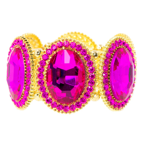 FUCHSIA IN INDIA STATEMENT BRACELET