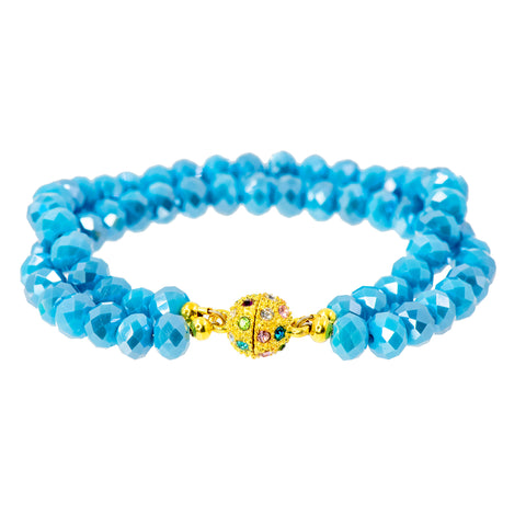 CARIBBEAN BLUE STATEMENT BRACELET