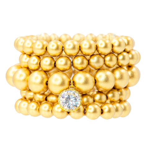 STACKED IN GOLD STATEMENT BRACELET
