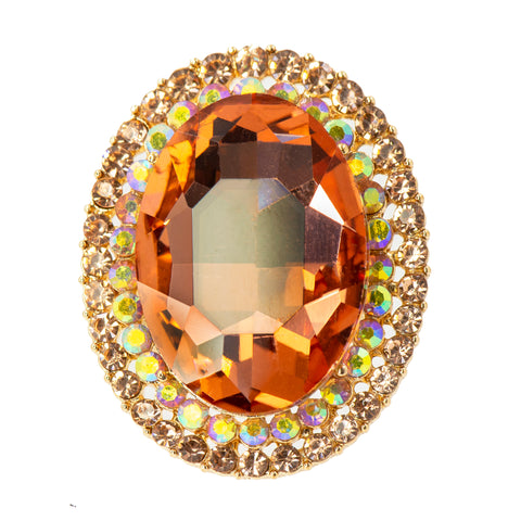 TANGERINE SPARKLE STATEMENT RING