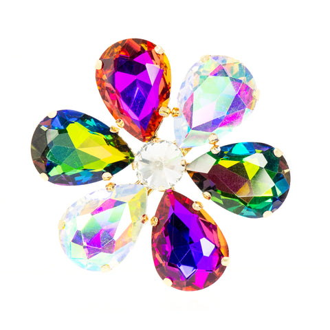 KALEIDOSCOPE GLAM STATEMENT BROOCH