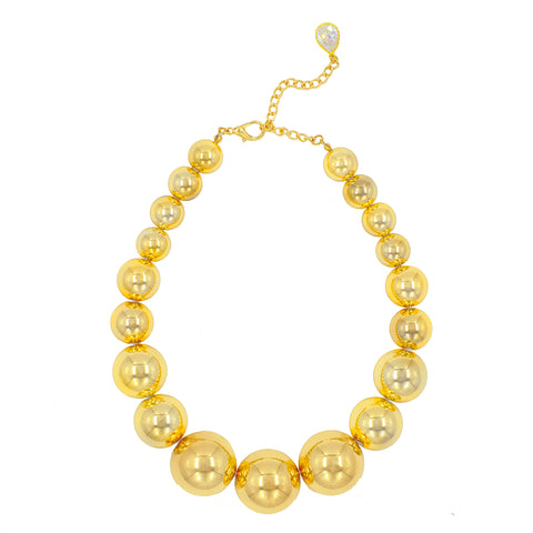 GOLDEN EMPRESS STATEMENT NECKLACE