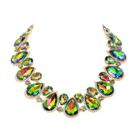 LIKE A QUEEN STATEMENT NECKLACE (VITRAIL)