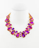 LIKE A QUEEN STATEMENT NECKLACE (FUCHSIA)