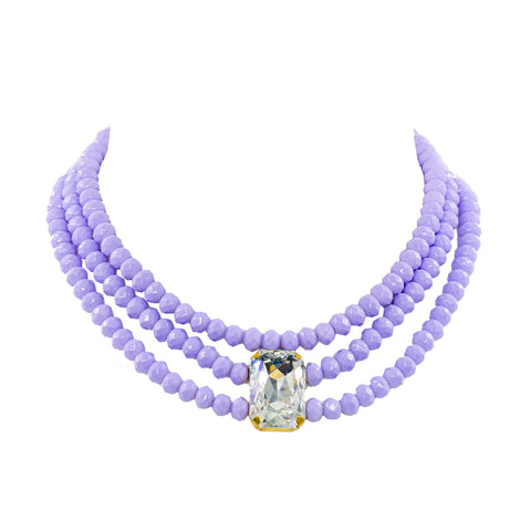 LAVENDER BREEZE STATEMENT NECKLACE