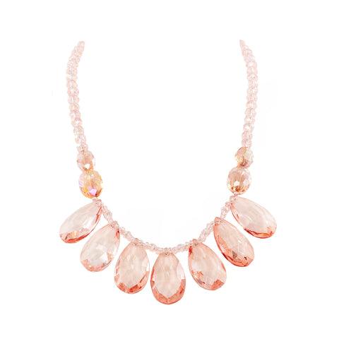 SOFT ROSE STATEMENT NECKLACE