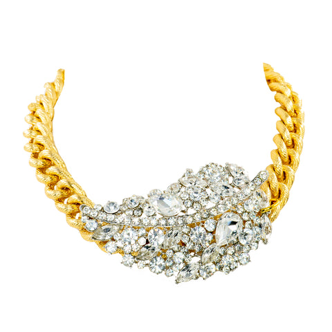 ENCRUSTED ELEGANCE STATEMENT NECKLACE