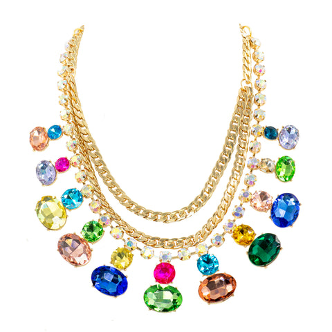 MULTI-COLOUR MAVEN STATEMENT NECKLACE