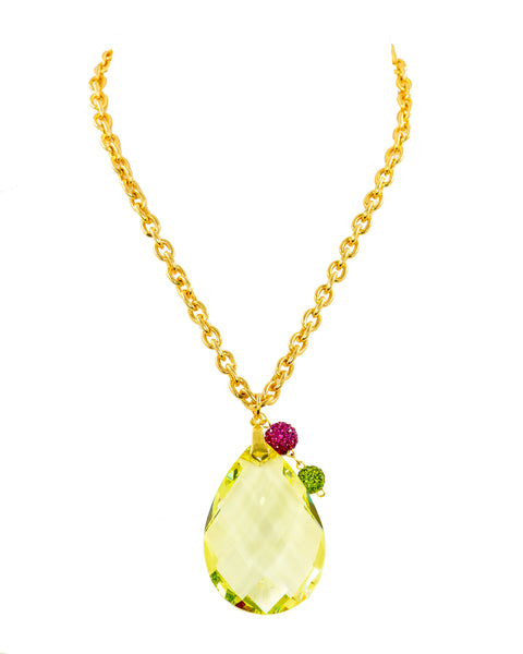 SUNSHINE FLAIR STATEMENT NECKLACE