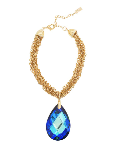 GLAMOUR TWIST STATEMENT NECKLACE (BERMUDA BLUE)