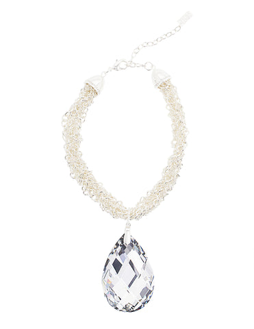 GLAMOUR TWIST STATEMENT NECKLACE (LABRADOR)