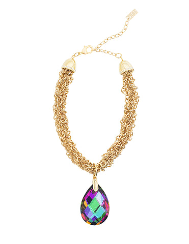 GLAMOUR TWIST STATEMENT NECKLACE (VITRAIL)