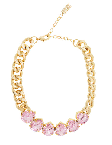 POWER DROP STATEMENT NECKLACE (ROSALINE)