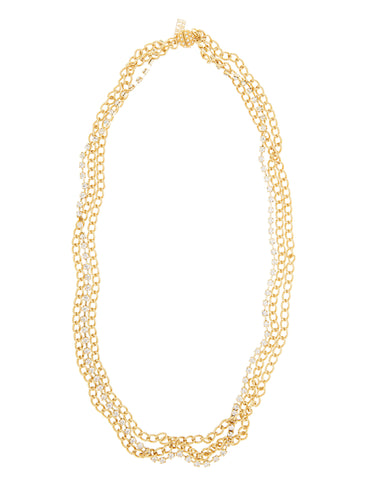 CLASSIC LAYERED STATEMENT NECKLACE (GOLD/CLEAR)