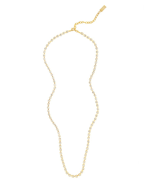 EVERYDAY GLAMOUR STATEMENT NECKLACE (GOLD/CLEAR)