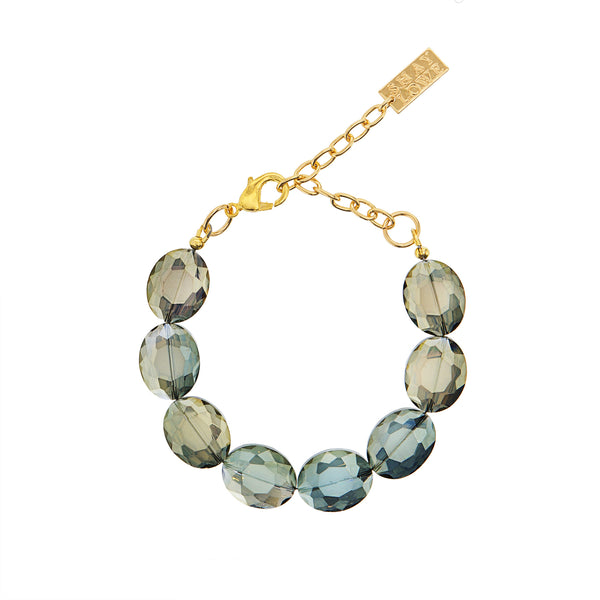 EVERYDAY ELEGANCE STATEMENT BRACELET (GREEN)