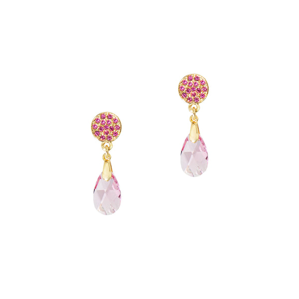 TWINKLING NIGHTS STATEMENT EARRINGS (PINK)