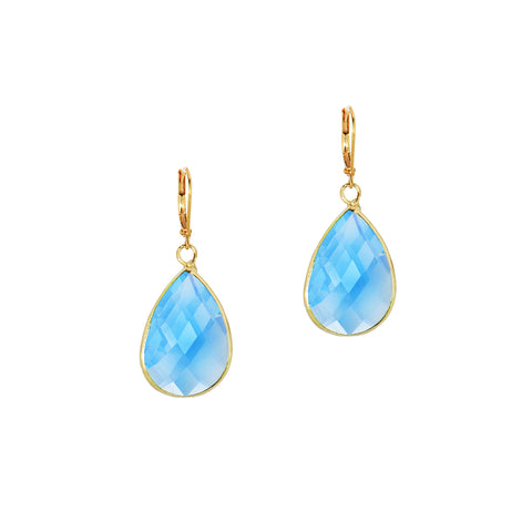 SPRING KISS STATEMENT EARRINGS (GOLD/TURQUOISE)