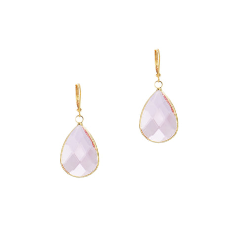 SPRING KISS STATEMENT EARRINGS (GOLD/PINK)