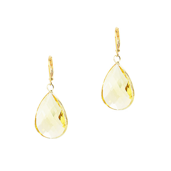 SPRING KISS STATEMENT EARRINGS (GOLD/YELLOW)