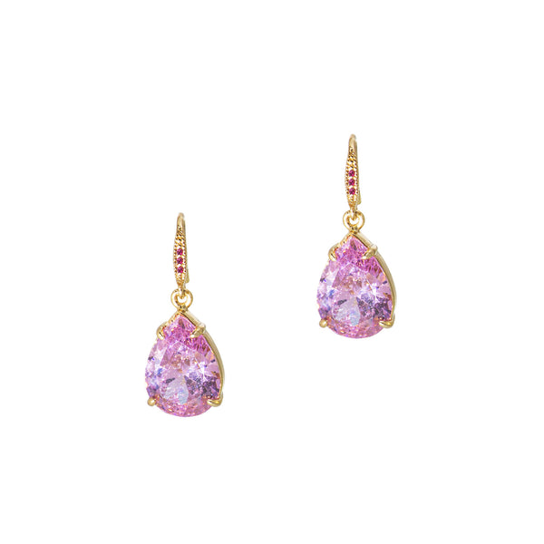 TOUCH OF SPARKLE STATEMENT EARRINGS (ROSE PINK)