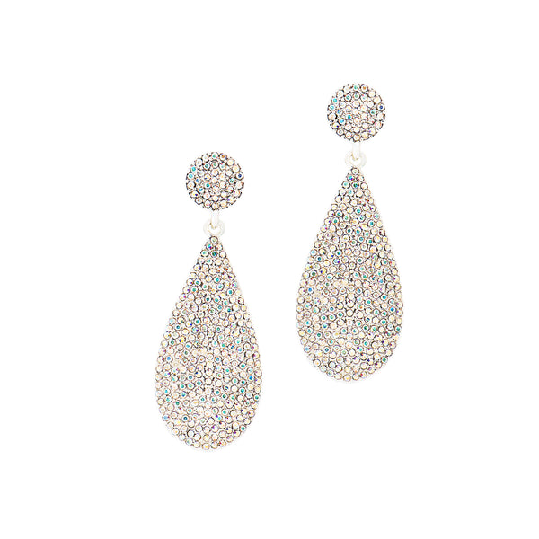 ON HOLIDAY GLAMOUR STATEMENT EARRINGS (SILVER/AB)