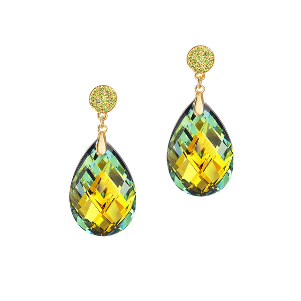 GO GLAM STATEMENT EARRINGS (VITRAIL GREEN)