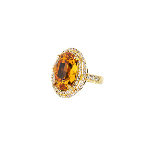 REGAL ESSENCE STATEMENT RING (GOLD/TOPAZ)